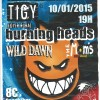"10 janvier 2015 The Mom's, Wild Dawn, Burning Heads à Tigy ""Foyer Rural"""