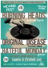 """21 février 2015 Burning Heads, Original Disease, Hateful Monday à La Cluse-et-Mijoux """"Salle des fêtes"""""""