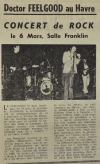 "6 mars 1975 Little Bob Story, Docteur Feelgood au Havre ""Salle Franklin"""