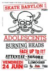 "24 juin 2011 Attentat Sonore, Face Up To It, Burning Heads, Adolescents à Limoges ""CCM John Lennon"""
