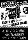 """2 décembre 2010 Gravity Slaves, Brokken Roses, The Toasters à Dijon """"Aux Tanneries"""""""