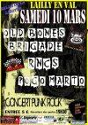 """10 mars 2012 Pogo Marto, Rnc's, Old Bones Brigade à Lailly En Val """"Salle de la Lisotte"""""""