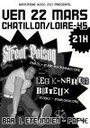 """22 mars 2013 Street Poison, Les K-nards Boiteux à Chatillon Sur Loire """"Bar l'été Indien"""""""