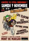 """9 novembre 2013 Les Clache, Les Boulenvrac, Flying Over, Cannibal Mosquitos à Mont de Marsan """"Café Music"""""""