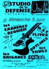 """5 juin 1988 Les Cadavres Requiem, MST, Flitox, Outlines, les Thugs, Les Brigades à Nanterre """"Studio de la Défense"""""""
