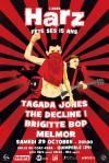 "29 Octobre 2016 Melmor, Brigitte Bop, The Decline !, Tagada Jones à Quimperlé ""Salle Coat Kaer"""