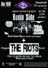 """14 septembre 2012 Ronin Side, The Riots à Orléans """"le 108"""""""