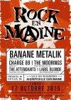 """17 octobre 2015 Label Blonde, the Attendants, The Moorings, Charge 69, Banane Metalik à Aigrefeuille Sur Maine """"Salle des Richardieres"""""""