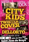 """10 fevrier 2018 Dellorto, Twister Covers, City Kids à Saint Jean de Braye """"Salle des Fêtes"""""""