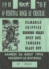 26 aout 1995 Silmarils, Skippies, Burning Heads, Spicy Box, Tansads, Blast Off à Nogent le Rotrou