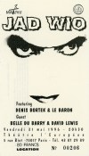 """31 mai 1996 Jad Wio à Paris """"Theatre de l'Européen"""""""
