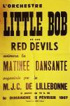 """12 février 1967 Little Bob et ses Red Devils à Lillebonne """"MJC"""""""