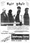"""29 mars 1988 Noir Desir, Unknown Pleasure à Tours """"le Bateau Ivre"""""""