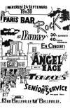 """24 septembre 1986 Angel Face, Tenaces, Senior Service à Paris """"Berry"""""""