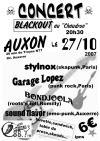 """27 octobre 2007 Garage Lopez, Stylnox, Bondjoola, Sound Flavor à Auxon """"Le Chaudron"""""""