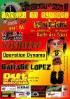 """30 octobre 2010 Out Of School Activities, Garage Lopez, Operation Dynamo, Nichiel's, Total Dezordre à Venthon """"Salle des Fêtes"""""""
