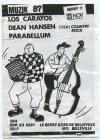 "23 novembre 1986 Los Carayos, Dean Hansen, Parabellum à Paris ""Berry"""