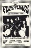 "28 novembre 1991 The Fuzztones, les Ambassadeurs à Paris ""Espace Ornamo"""