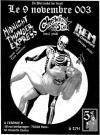 "9 novembre 2003 Midnight Thunder Express, Chewbacca All Star, Rem & The Coubarians à Paris ""Espace B"""