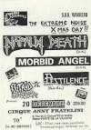 """20 decembre 1989 Napalm Death, Morbid Angel, Pestilence, Putrid Cadaver à Paris """"Gibus"""""""