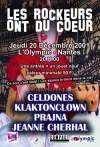 """20 decembre 2001 Jeanne Cherhal, Klaktonclown, Celdones, Prajna à Nantes """"L'Olympic"""""""