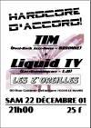 """22 decembre 2001 Tim, Liquid TV  au Havre """"les Z'Oreilles"""""""