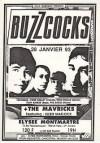 """28 janvier 1993 Buzzcocks, the Mavricks à Paris """"Elysée Montmartre"""""""