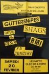 """20 fevrier 1993 (?) Guttersnipes, Reve & Desir, Shags, RMI au Havre """"Clec de l'Eure"""""""