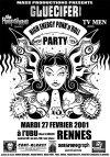 "27 février 2001 Gluecifer, The Peepshows, TV Men à Rennes ""l'Ubu"""
