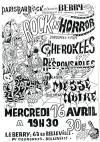 """16 avril 1986 Cherokees, les Responsables à Paris """"le Berry"""""""