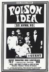 """23 avril 1993 Poison Idea à Pontoise """"Petit Theatre de Louvrais"""""""