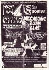 """7 mai 1990 MST, Les Gnomes, Cosmic Wurst, Mega Sonic Boom Blast, Judge AK47, Hoax, Frayeurs à Savigny Sur Orge """"Salle des Fetes"""""""