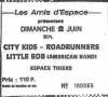 "2 juin 1991 Little Bob, Roadrunners, City Kids, Les Croaks, Rosemary's Babies à Thiers ""l'Espace"""