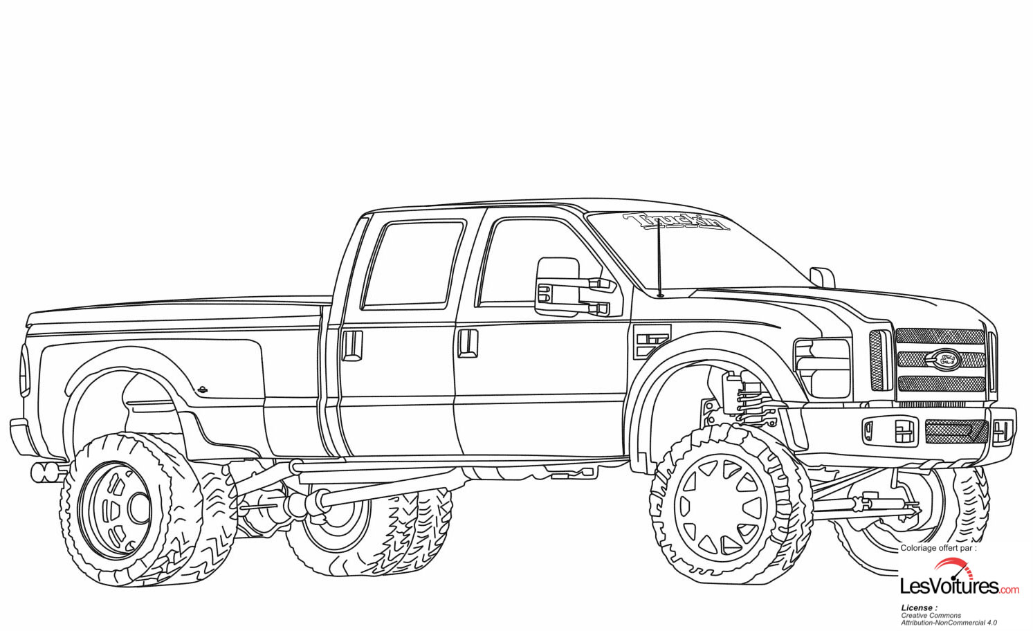 Ford F350 Dually Lifted Coloriage Voiture