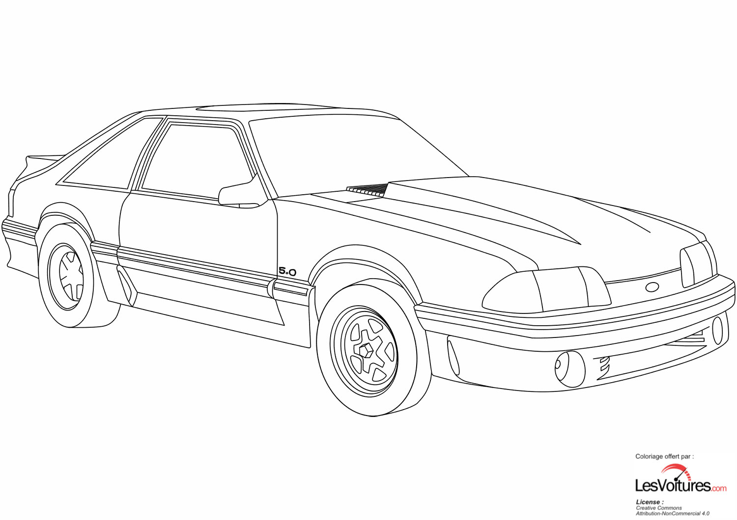 Ford Mustang Coloriage Voiture 1