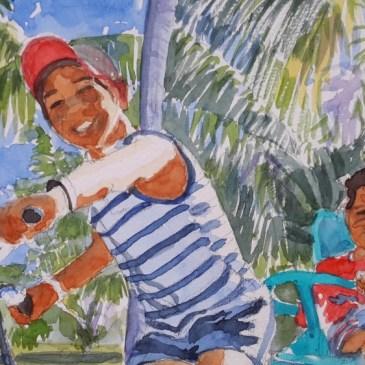 Les  élèves en Polynésie française