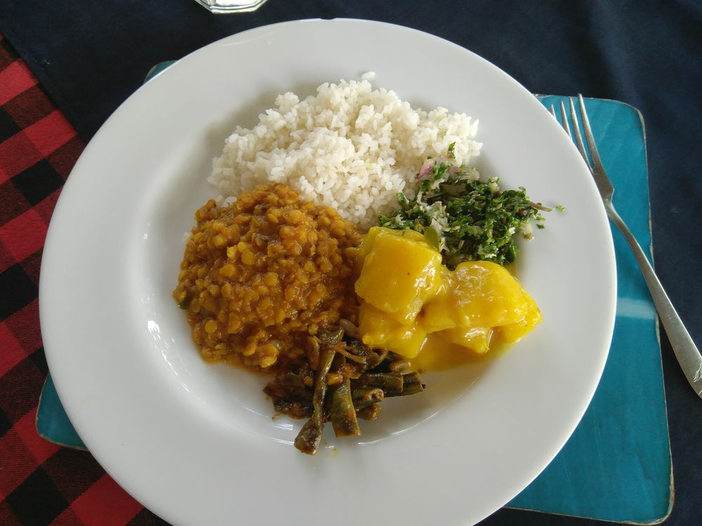 Manger au Sri Lanka - rice and curry