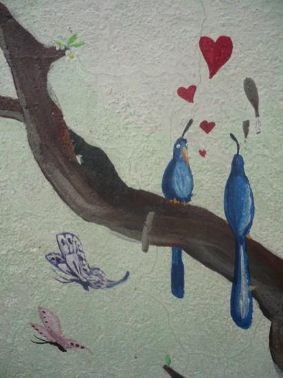 Les peintures de l'hôtel