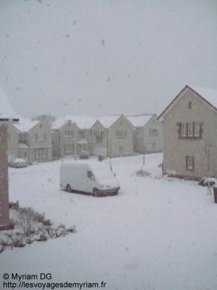 mon quartier sous la neige