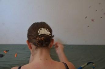 Ma soiffure trop belle (pince à cheveux acheté localement pour 7,5€) et si, la couleur de mes cheveux est naturelle ^^