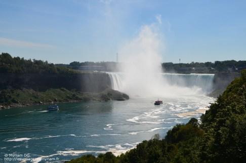 Les chutes côté Canada