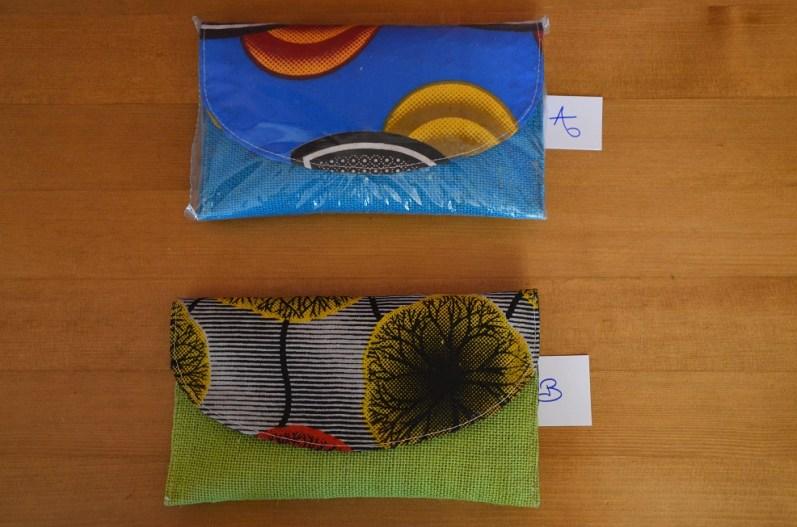 pochette tissu raphia simple