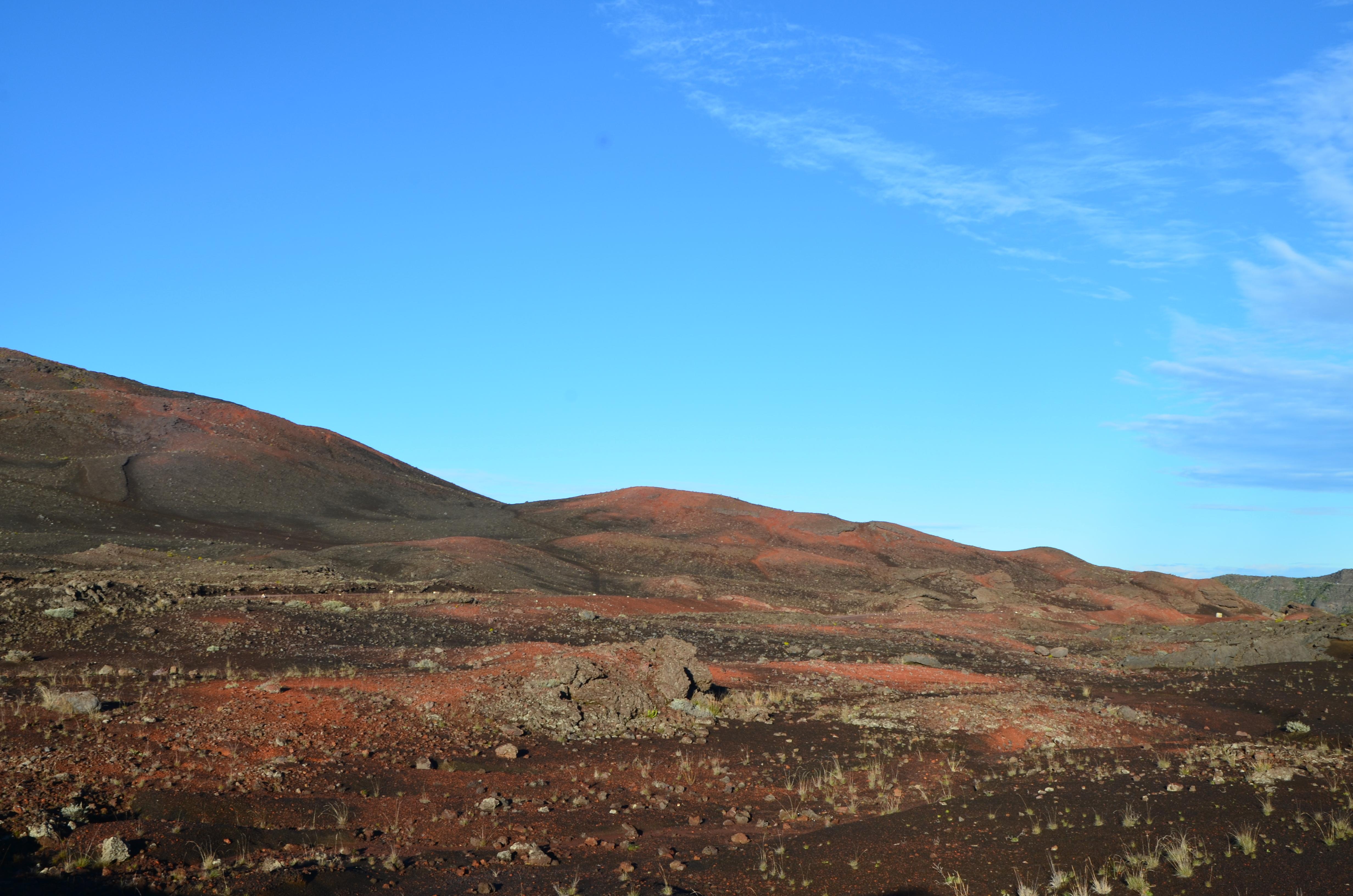 La plaine des sables, à la Réunion. Volcan du Piton de la Fournaise.