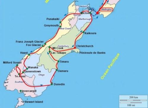 île du Sud - Nlle Zélande