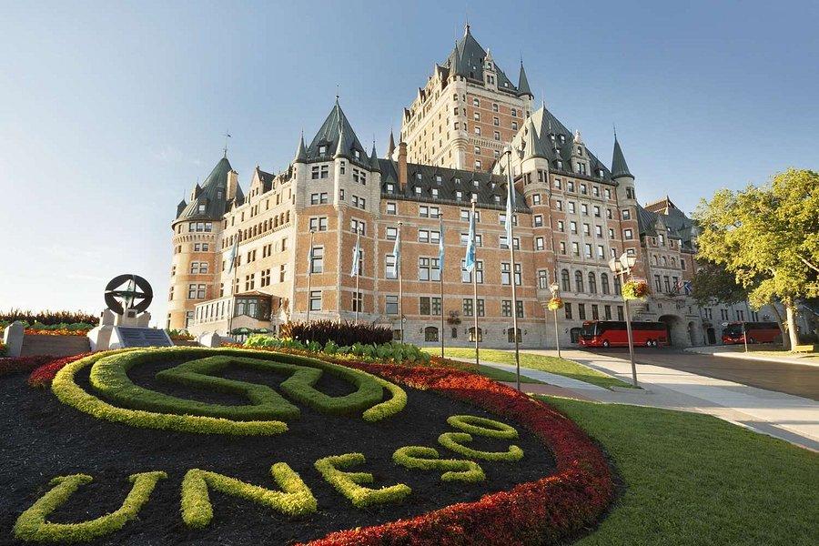 Le château Frontenac dans le vieux Québec
