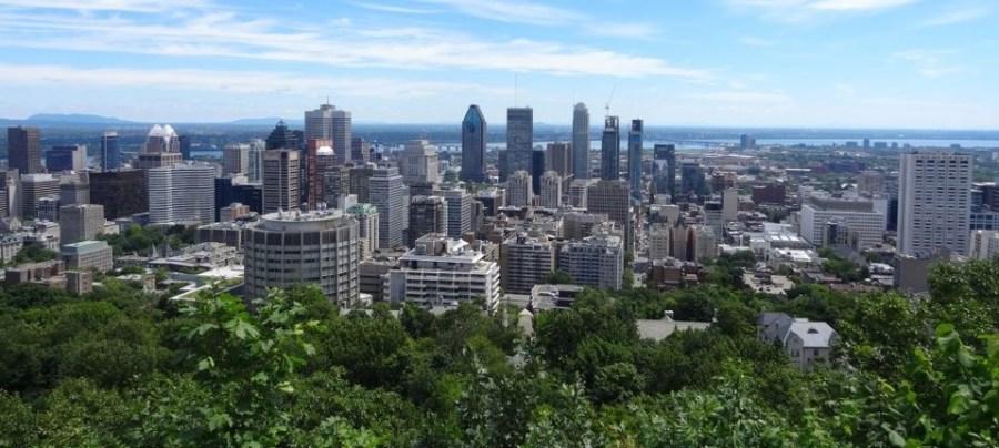 Vue sur Montréal depuis le parc Mt Royal