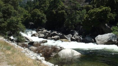Sur la route vers Folsom depuis Yosemite NP