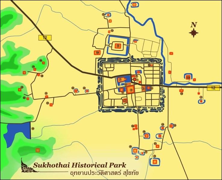 Le parc historique de Sukhohaï - Thaïlande