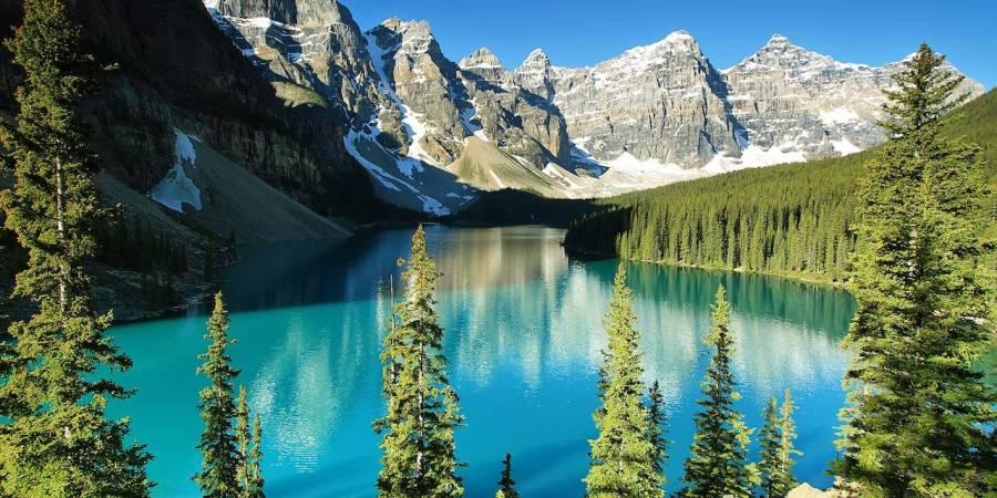 Le lac Moraine - Rocheuses canadiennes