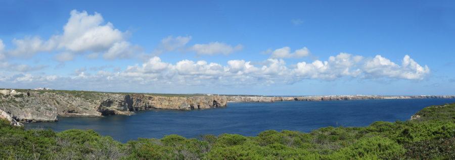 La côte de Sagres au Cap St Vincent